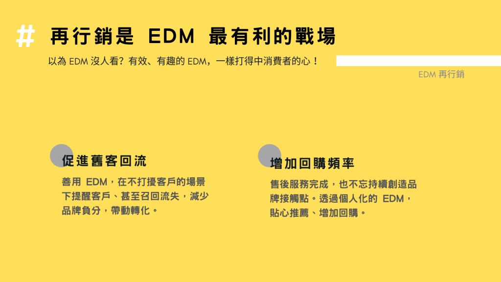 再行銷是 EDM 最有利的戰場
