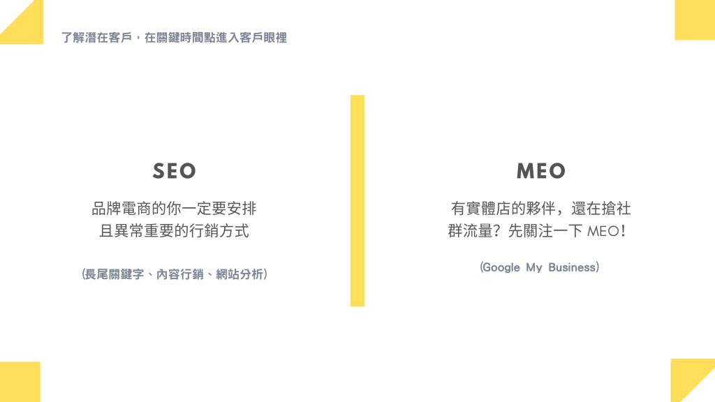 運用 SEO、MEO 進入客戶眼中