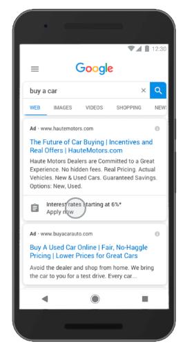 Google ads 待開發客戶表單額外資訊呈現樣式
